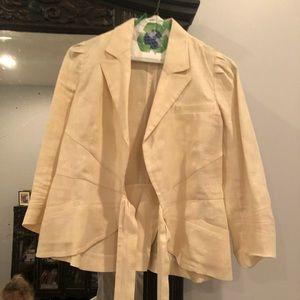 Diane von Furstenberg linen wrap jacket